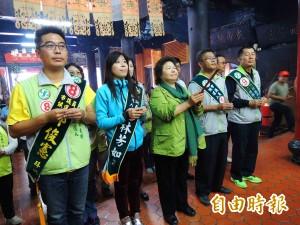 陳菊巡迴地方廟宇拜票 祈求議會過半