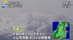 吾妻山火山34分鐘微動 日警戒升級