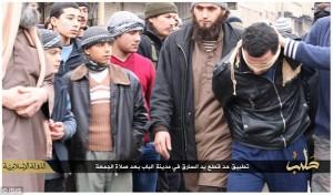 敘利亞男子行竊 遭伊斯蘭國「砍手」示眾