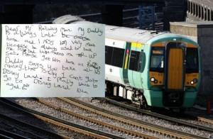 就愛爸爸哄入睡 6歲女童寫信要火車別再誤點
