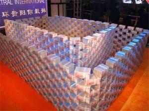 中國土豪發年終 「5億現金牆」任你扛
