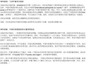 哈佛模聯會將台灣列國家 中國團抗議被「請」出場