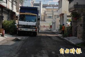 草屯污水下水道工程破壞道路 山腳里春節前可修復