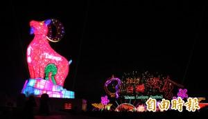 台灣燈會試燈 高鐵站旁燈海吸睛