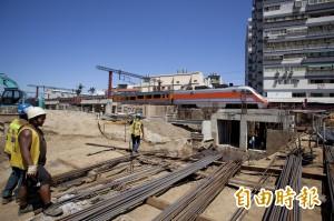 竹市台鐵三姓橋車站年底完工