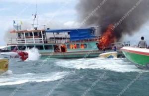 泰國遊船突竄火 102中國遊客跳海保命
