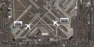 芝加哥機場驚魂 2架飛機同飛險相撞