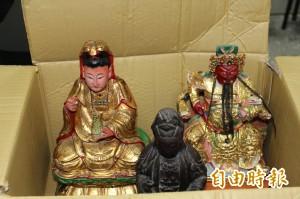 3尊神像棄置台南學甲慈濟宮  警公告招領