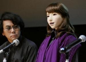 日本「正妹」機器人 自然語氣和人類對話