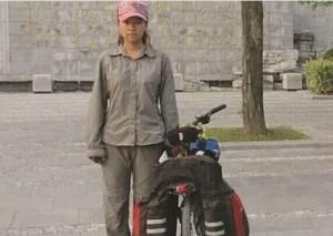 赴大學開學 中國女大生騎近2500公里路程