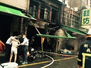 颱風天市場火警 8旬女屋主嗆傷