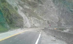 蘇花公路傳出坍方中斷 工務段派人了解