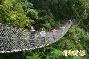 太魯閣小錐麓步道開放 棧道吊橋如鋼索
