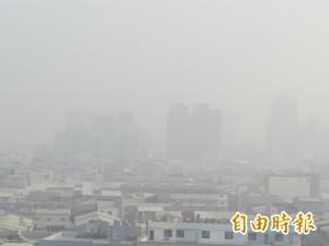 空污嚴重!台南4測站PM2.5全爆表