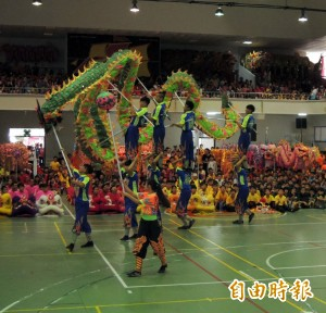 全國民俗體育競賽登場 卓蘭高中舞龍隊吸睛