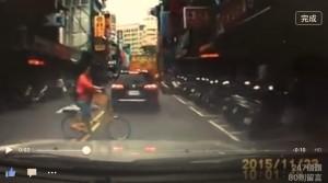 單車違規撞上來 幸靠行車記錄器保清白