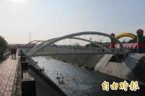 柳川上的白蝴蝶 柳康橋啟用