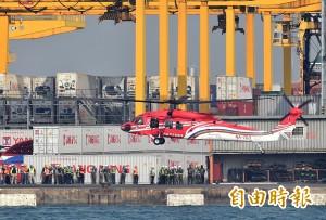 黑鷹直升機投入空勤隊  迎機儀式延誤
