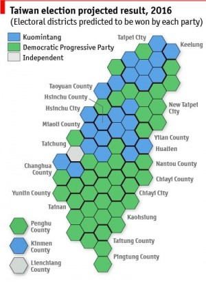 經濟學人智庫:民進黨可望奪過半立委席次