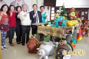 小豬撲滿回娘家  李俊俋:請化為選票支持
