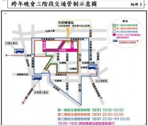 「台北最HIGH新年城跨年晚會」有交通管制措施