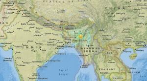 印度東北部今晨發生6.7強震 至少2死、35傷