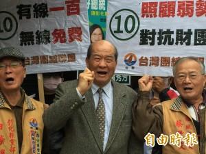 黃昆輝掃街衝政黨票 「台聯扮黑臉、民進黨扮白臉」