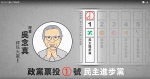 綠推吳念真廣告  呼籲政黨票投民進黨