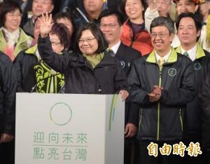 小英成首位台灣女總統 美媒:此為兩岸關係滿意度公投