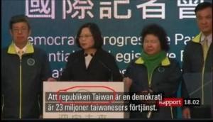 報導大選 瑞典媒體稱「台灣共和國」非「中華民國」