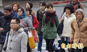 日本NHK天氣預報 台北週日貼小雪人