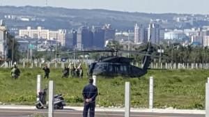 黑鹰直升機迫降台中南屯 人機均安