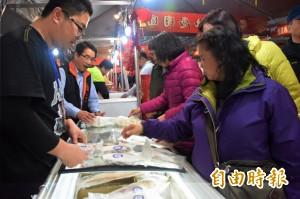 花蓮年貨大街魚鮮夯 紅魽、鱒魚搶手