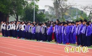 南台強震5學生罹難 大灣高中始業式默哀