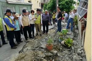 土壤液化地區 賴清德:7天內完成受災戶調查