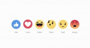 除了「讚」之外 臉書多了5種新符號