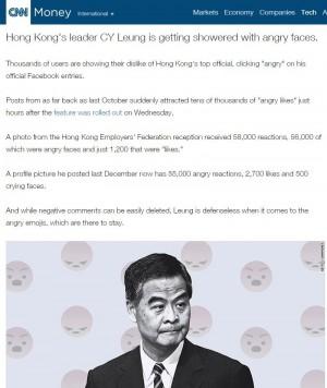 臉書推出新表情符號 香港特首梁振英慘淪受害者