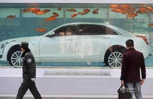 你沒看錯!這是一個魚缸 裡面有一輛名車