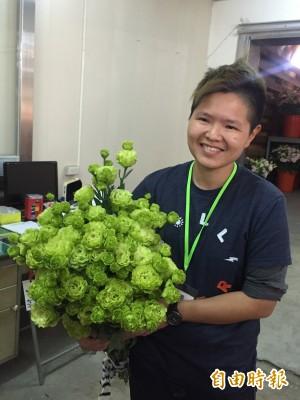 小英最愛什麼花? 原來是「琥珀重瓣綠」