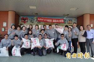 台灣領袖行動237成員 樂捐白米助弱