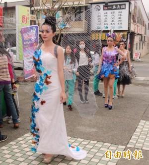 林內紫斑蝶季登場 正妹扮蝴蝶仙子吸睛