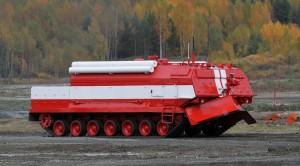 俄國戰車改裝消防車 應付特殊打火任務