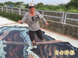 台南麻豆水圳彩繪廊道 200人動手畫