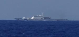 政府沖之鳥礁公海巡護 與日本保安船相安無事