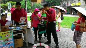 消防局「華山劇場」辦活動 全家一起體驗防救災
