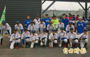 為了和兒子打棒球 麻豆柚城社區棒球隊成軍
