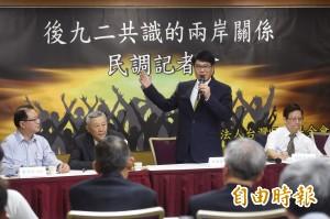 民調:近7成支持蔡英文兩岸政策  近8成不贊同一中