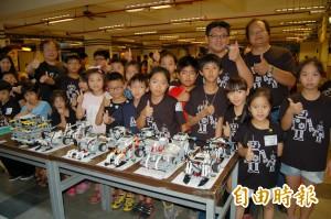 鹽水南榮科大機器人搬米比賽 小學生金厲害
