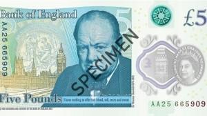 英首次發行塑質鈔票 將印戰時首相邱吉爾