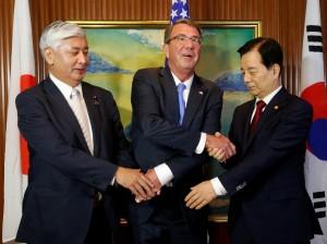 美日韓國防部長 決設熱線抗北韓